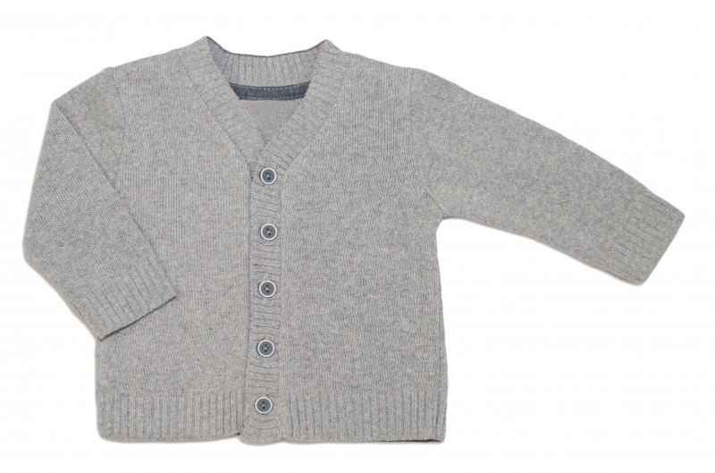 Dojčenský svetrík K-Baby - sv. sivý-#Velikost koj. oblečení;80 (9-12m)