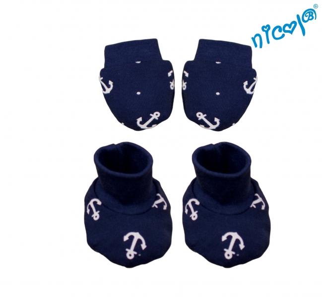 Dojčenská sada Nicol - rukavičky s topánočkami Sailor