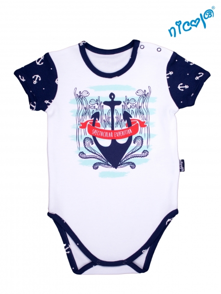 Detské body Nicol - krátky rukáv, Sailor - biele veľ. 98-98 (24-36m)