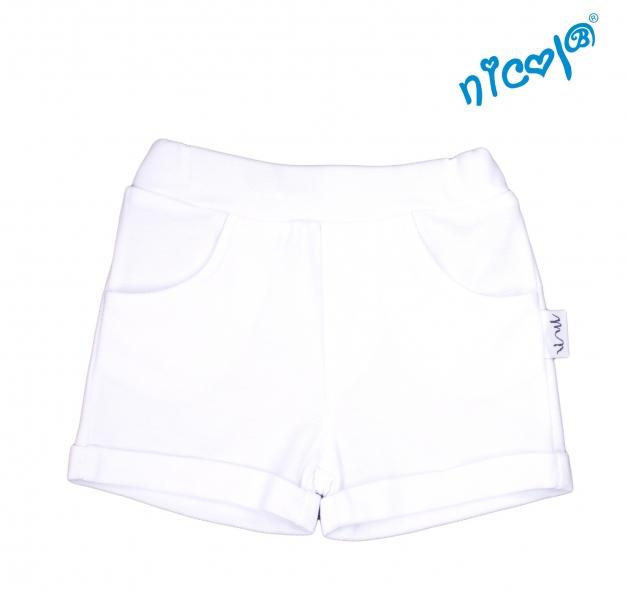 Detské kraťasy Nicol, Sailor - biele, veľ. 128-#Velikost koj. oblečení;128