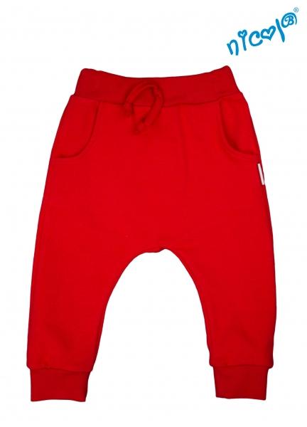 Kojenecké bavlnené tepláky Nicol, Sailor - červené-56 (1-2m)