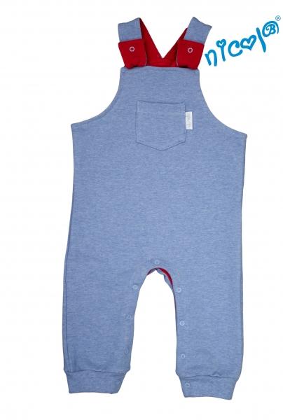 Kojenecké bavlnené traky Nicol, Sailor - modré, veľ. 62-62 (2-3m)