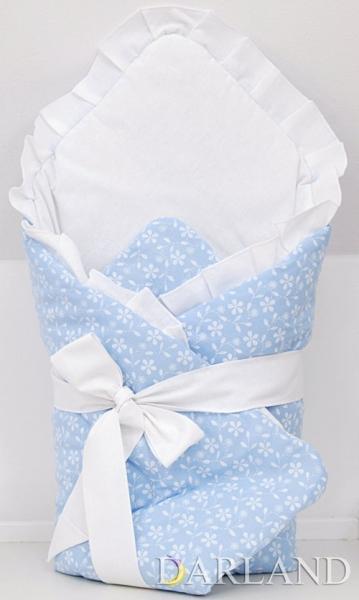 Krásna zavinovačka s volánikom - Kvetinky v modrej