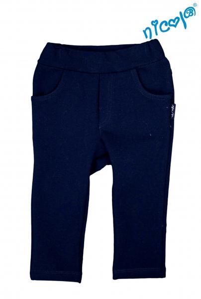 Dojčenské bavlnené tepláky Nicol, Sailor - modré, veľ. 86
