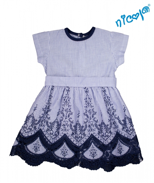 Detské šaty Nicol, Sailor - granátové/prúžky, vel. 122-122