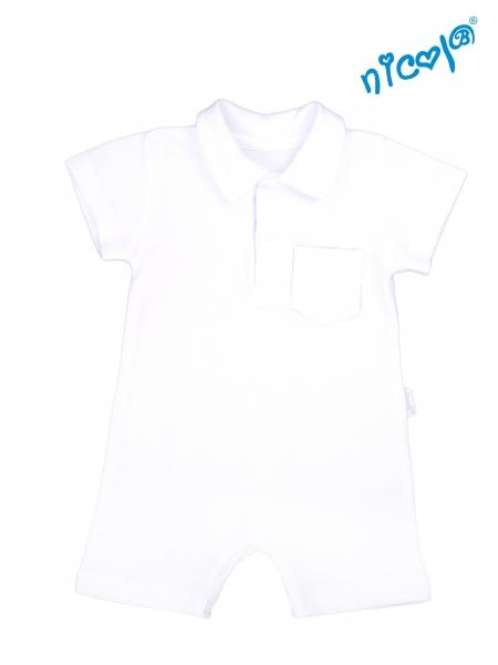 Dojčenské body s nohavičkami Nicol - krátky rukáv, Sailor - biele