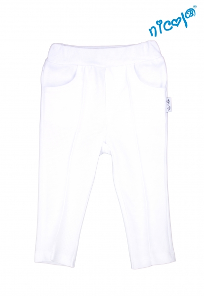 Detské bavlnené kalhoty Nicol, Sailor - biele, veľ. 104-104