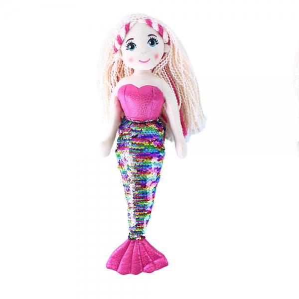 Handrová bábika morská panna Šupinka 45 cm