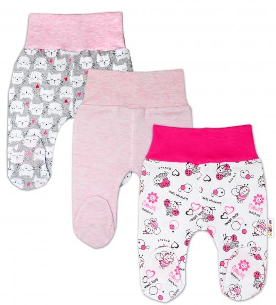 Dojčenská dievčenská sada polodupaček Baby Nellys ® - 3 ks, veľ. 62-62 (2-3m)