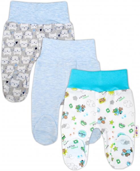 Dojčenská chlapčenská sada polodupaček Baby Nellys ® - 3 ks, veľ. 62-62 (2-3m)