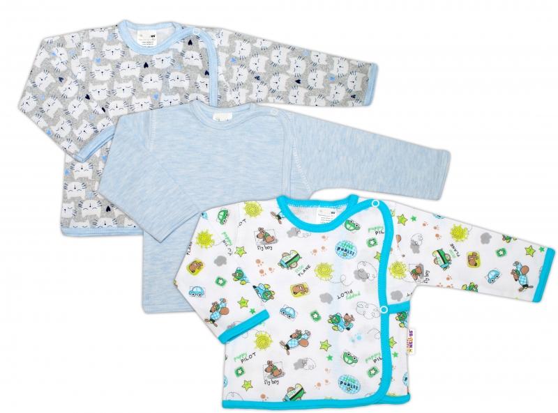Novorodenecká chlapčenská sada košieľok Baby Nellys ® - 3 ks, veľ. 68