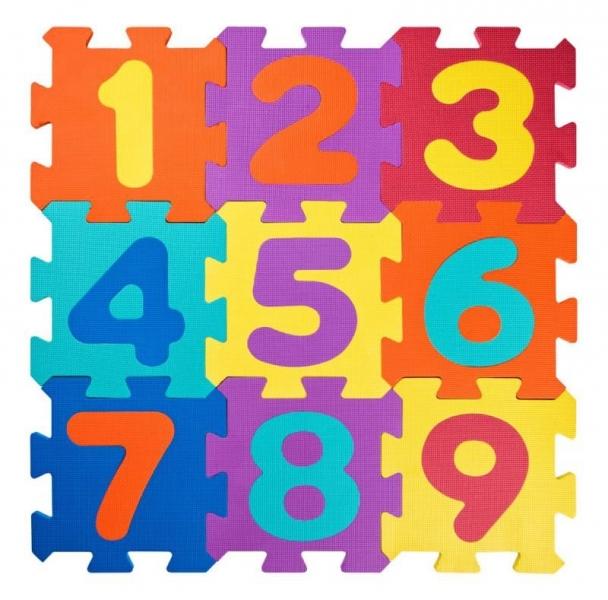 Plastica Penové podlahové puzzle Čísla - 18 ks