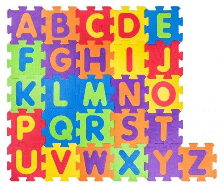 Plastica Penové podlahové puzzle Abeceda - 52 ks