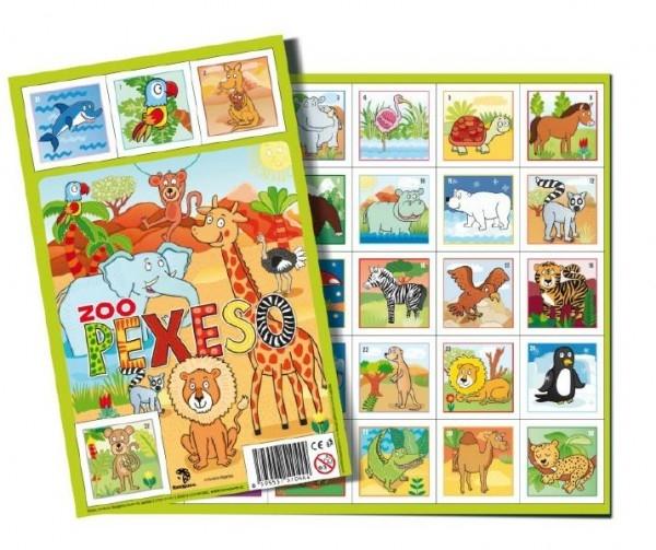 Pexeso Zoo papierové spoločenská hra 32 dvojíc