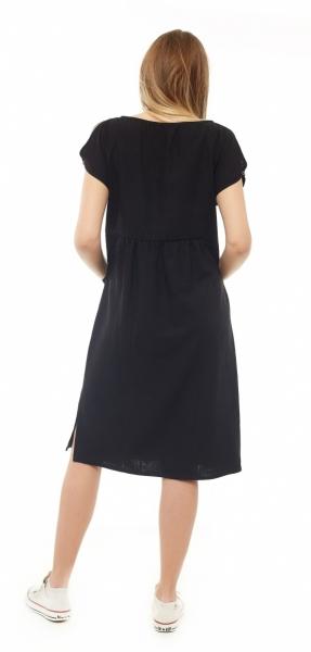Tehotenské letné šaty kr. rukáv - čierne