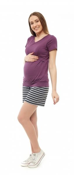 Be MaaMaa Tehotenské, dojčiace pyžamo - fialový, veľ. S/M