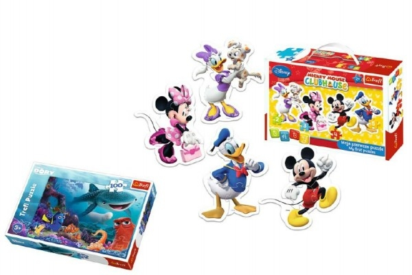 Teddies PACK Baby Puzzle Mickey Mouse + Puzzle 100 dielikov v krabici