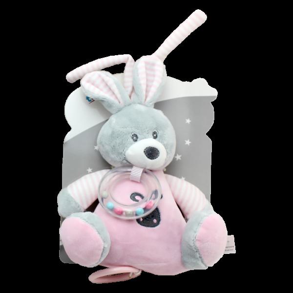 Tulilo Závesná plyšová hračka s melódiou Zajačik - ružový