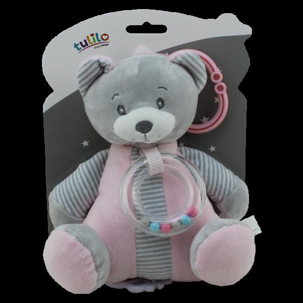 Tulilo Závesná plyšová hračka s melódiou Medvedík - ružový