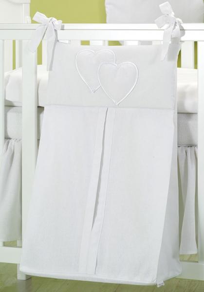 Luxusné vreckár na plienky - Srdiečko biele