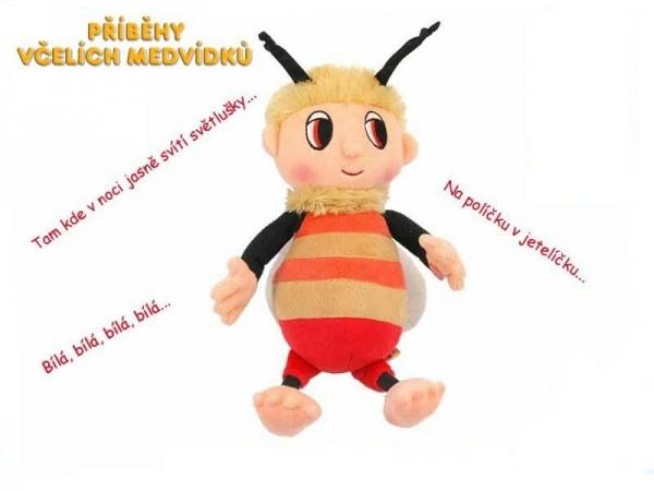 Včelí medvedík Čmelda plyš česky spievajúci 29cm na batérie 0+ (1 KS)