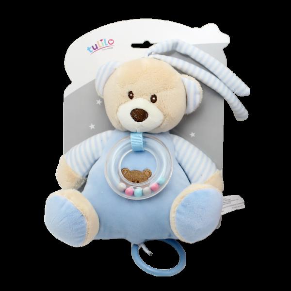 Tulilo Závesná plyšová hračka s melódiou Medvedík - modrý