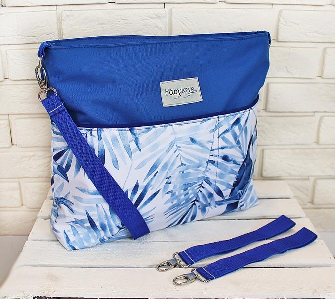Štýlová taška na kočík Baby Nellys Hand Made - Tukan - modrá, Ce19