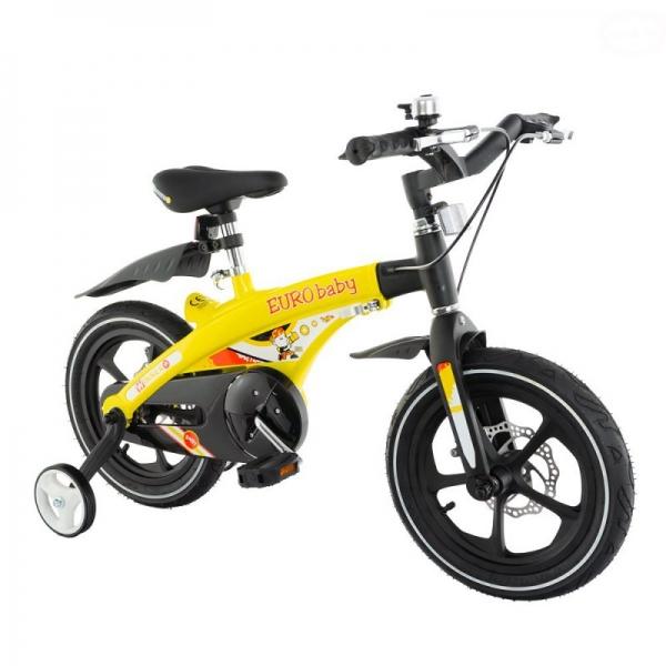 "Euro Baby Detský štylový bicykel Winner 14 "", žlté, Ce19"