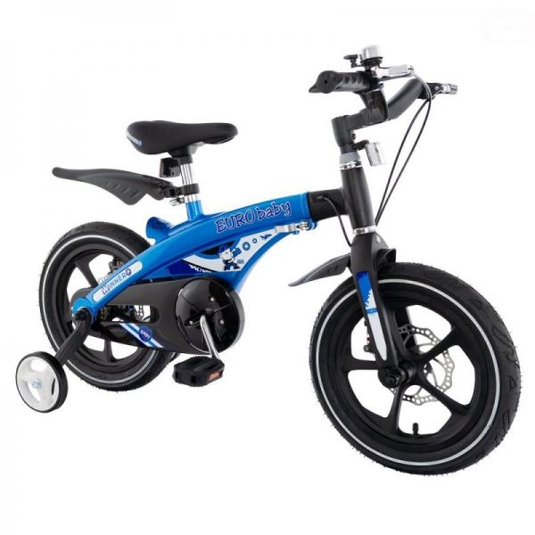 """Euro Baby Detský štylový bicykel Winner 14 """", modré, Ce19"""