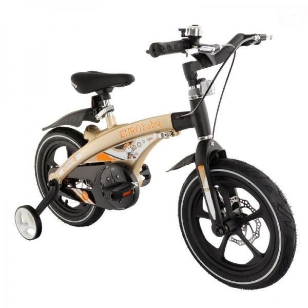 """Euro Baby Detský štylový bicykel Winner 14 """", zlaté, Ce19"""