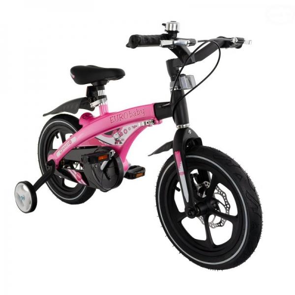 """Euro Baby Detský štylový bicykel Winner 14"""",ružová, Ce19"""