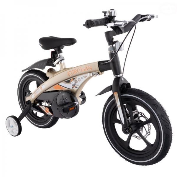 """Euro Baby Detský štylový bicykel Winner 16"""",zlatá, Ce19"""
