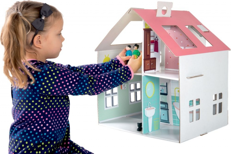 Detský kartónový domček Tektorado pre bábiky