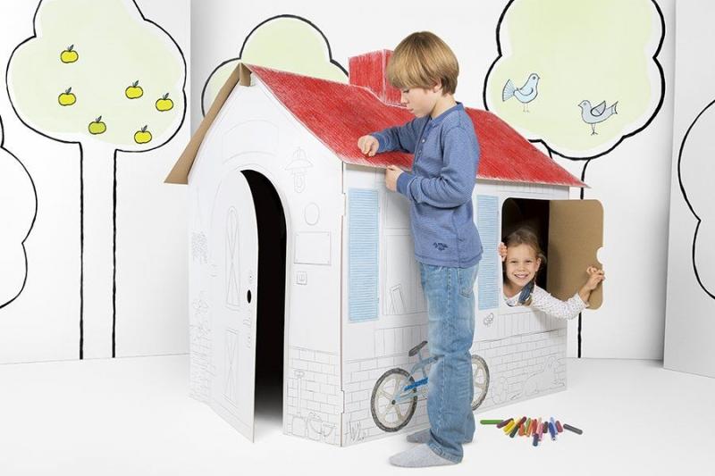 Detský kartónový domček Tektorado veľký