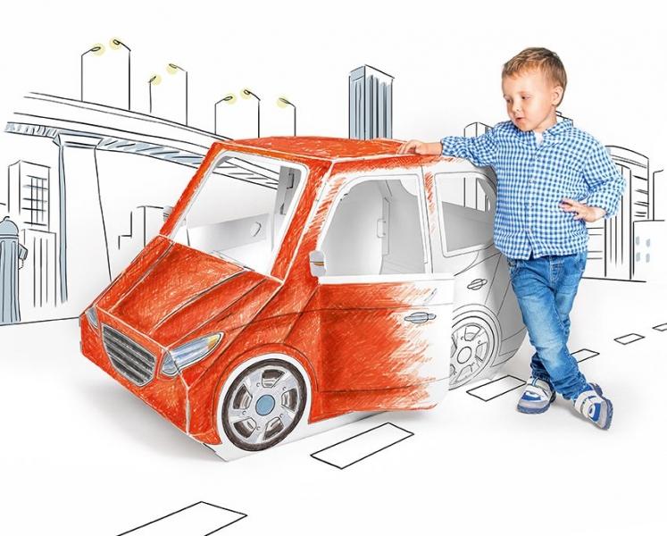 Detské kartónové auto Tektorado