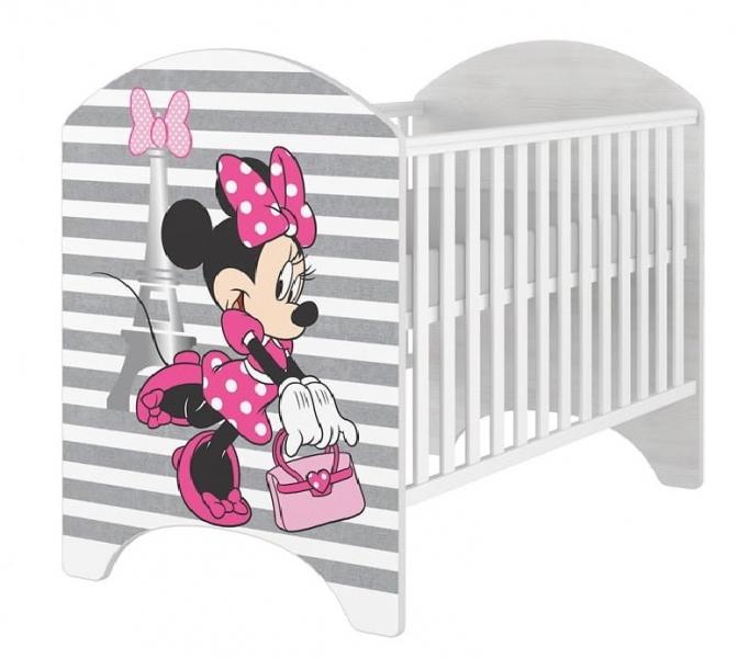 BabyBoo Detská postieľka Disney Minnie varíži - 120x60 cm