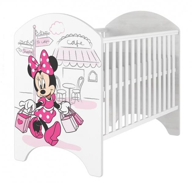 BabyBoo Detská postieľka Disney Minnie/Shopping, 120x60 cm
