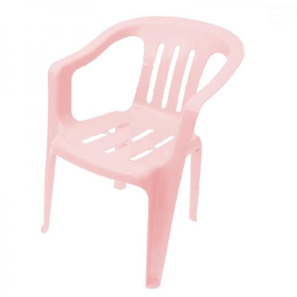 Tega detská plastová stolička - ružová
