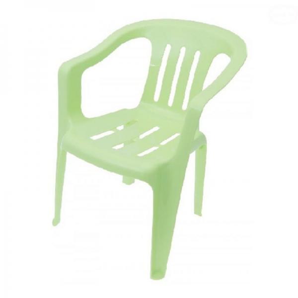 Tega detská plastová stolička - zelená