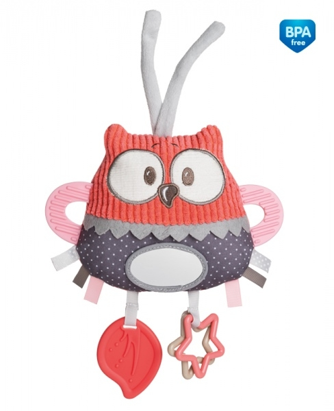 Plyšová edukačné hračka na zaväzovanie Canpol Babies - Sova korálová