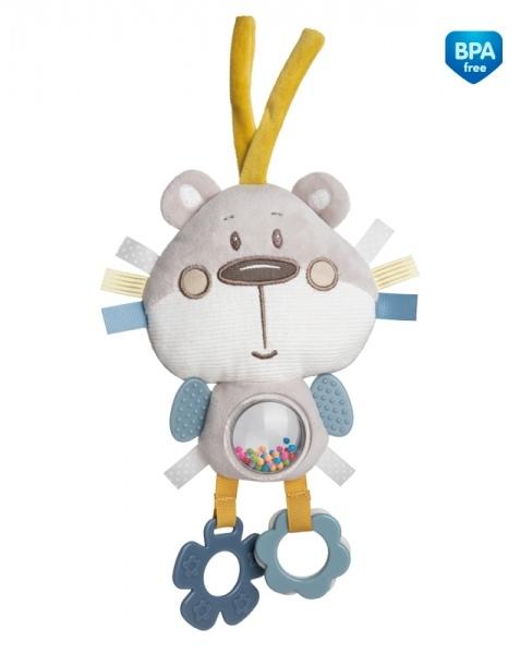 Plyšová edukačné hračka na zaväzovanie Canpol Babies -Medvedík sivý