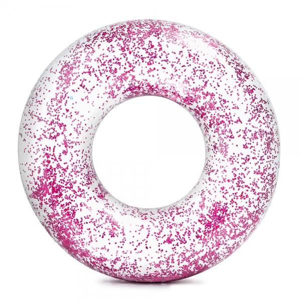 Nafukovací kruh flitrový 119 cm, 2 farby