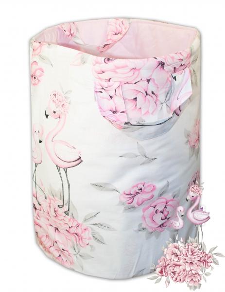 Bavlnený kôš na hračky Baby Nellys, Plameniak - ružový