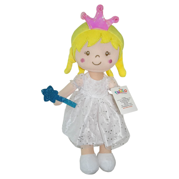 Handrová bábika Tulilo Arabela, 30 cm - biela