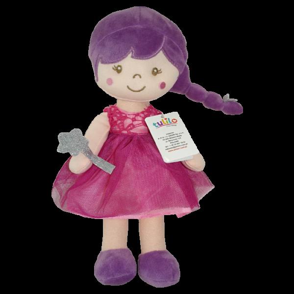 Handrová bábika Tulilo Arabela, 30 cm - fialová