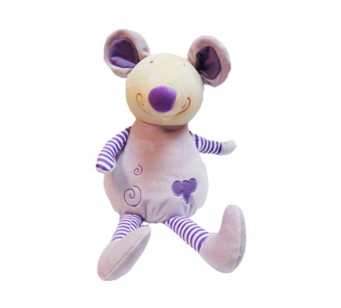 Plyšová hračka Tulilo Myška, 25 cm - lila