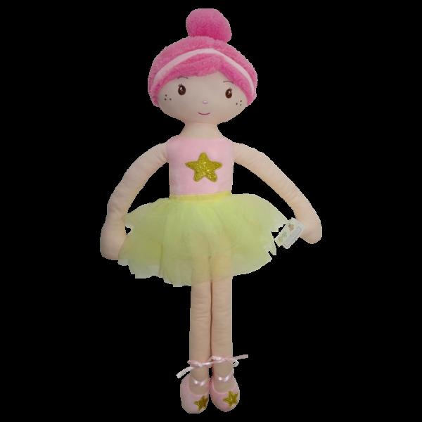 Handrová bábika Tulilo Balerína, 70 cm - ružová