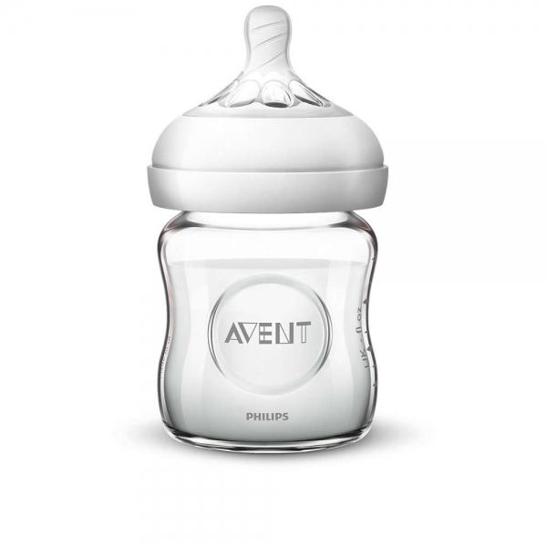Detská sklenená fľaša Avent Natural, 120 ml