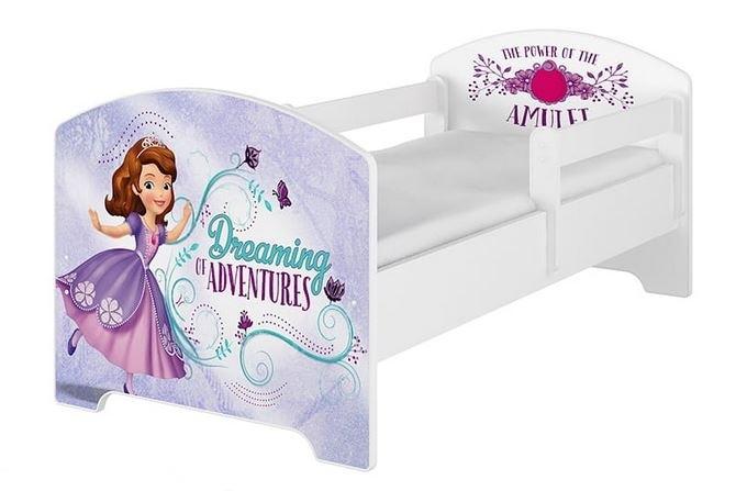 BabyBoo Detská postel Disney - Sofie - biela s matracom, 140x70 cm
