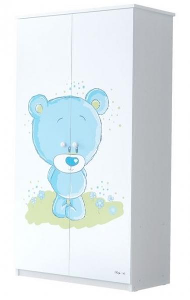 Babyboo Detská skriňa - Macko modrý, 160x80 cm